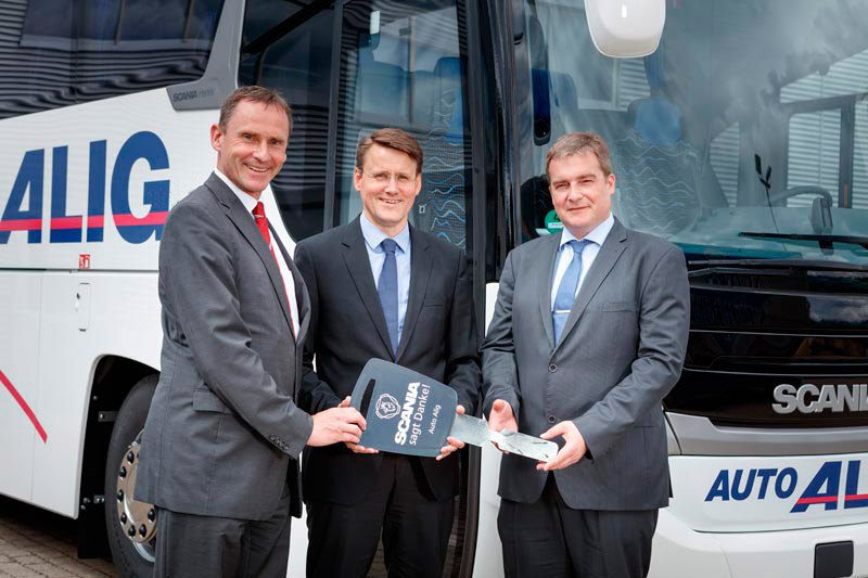 Scania Bus Übergabe